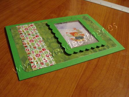 Tarjeta de Felicitación Navideña 2011 (Técnica Sonajero)